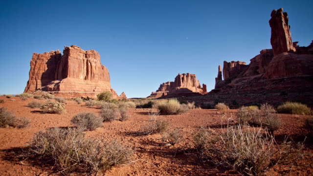 timelapse, scenic rock heads in moab - moab utah stock videos and b-roll footage