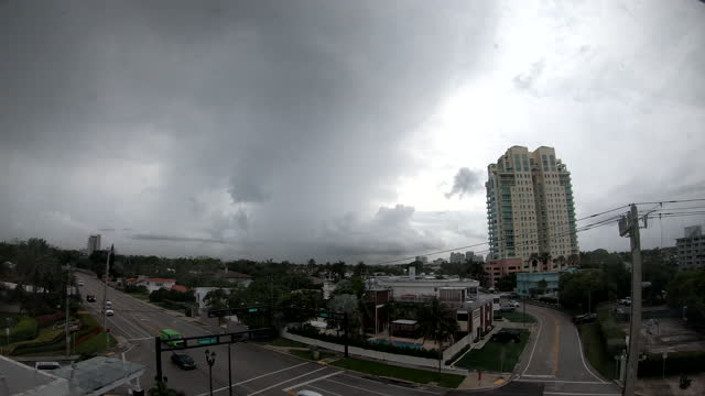timelapse sequence of a thunderstorm passing over fort lauderdale beach on june 30 fort lauderdale, florida. - dramatic sky stock videos & royalty-free footage