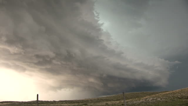 Timelapse sequence of an approaching supercell thunderstorm near La Hunta CO