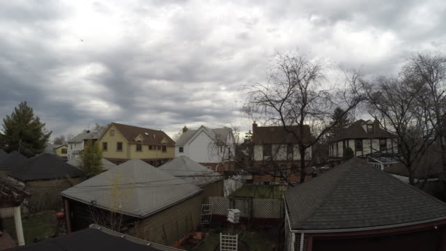 Timelapse Sequence - Sunny Skies To Storm Clouds, To Clearing Skies (Queens, NYC)