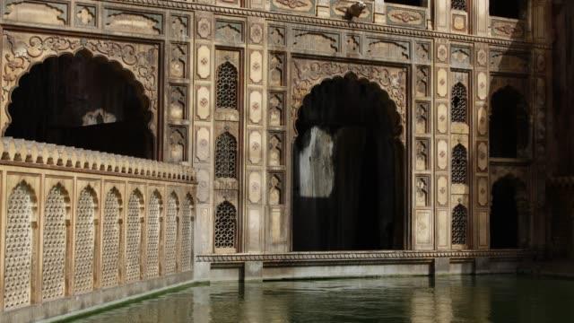 Timelapse shadows shift over Galtaji temple, Jaipur, India