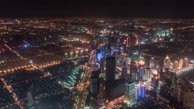 Timelapse Shanghai Lujiazui Financial District