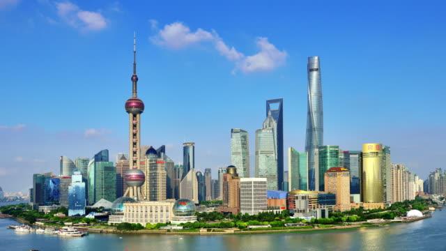 4K Time-lapse: Shanghai Skyline Panoramic