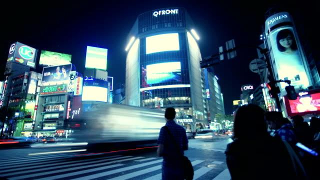 Shibuya TOKYO, JAPAN - October 11: Time-lapse Shibuya Crossing , October 11 2015 in important landmark Shibuya Crossing in Shibuya tokyo japan