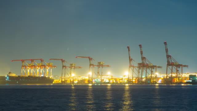 4K Timelapse: Shipping port Odaiba