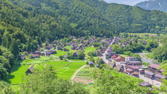 4K Timelapse: Shirakawa-go, A Small traditional Historic villages in summer Season
