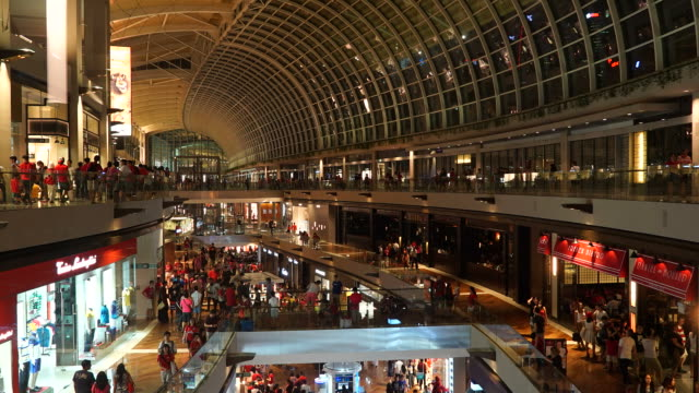 Timelapse winkelcentrum in singapore