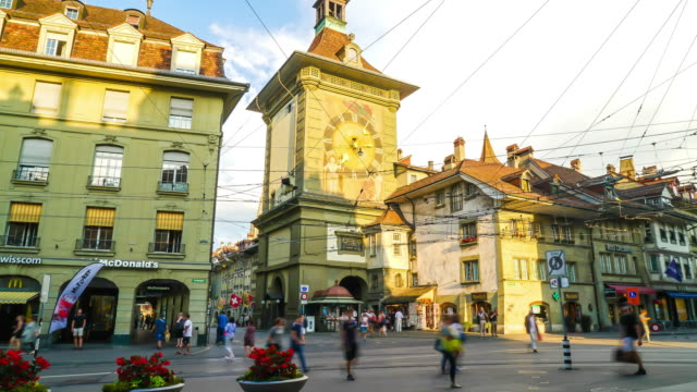 Timelapse Shopping Street at Bern City