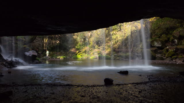 Time-lapse shot: Nabegataki Falls, Kumamoto, Japan.