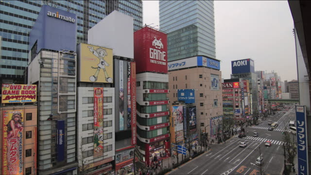 Time-lapse shot of Akihabara in the vicinity of the Chuo-dori (Chuo Street) intersection