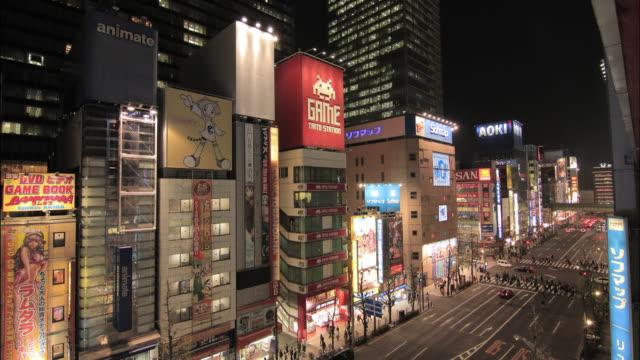 Time-lapse shot of Akihabara in the vicinity of the Chuo-dori (Chuo Street)