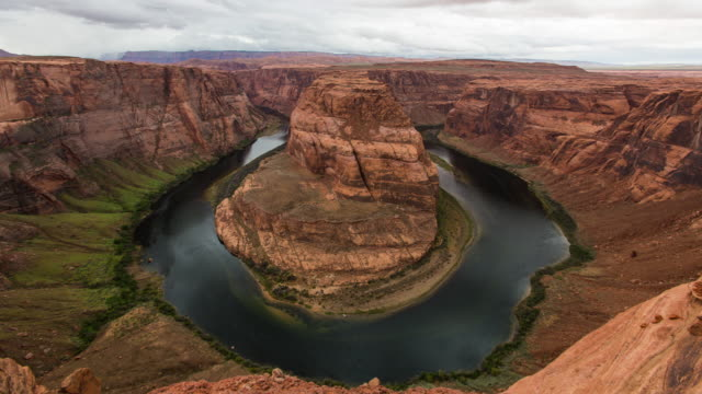 Time-Lapse shot of Horseshoe Bend in the Colorado River