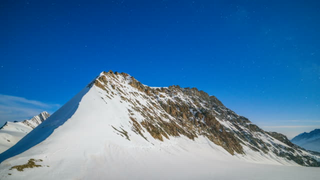 time-lapse shot of jungfrau (one of the main summits of bernese alps) - bernese alps stock videos & royalty-free footage