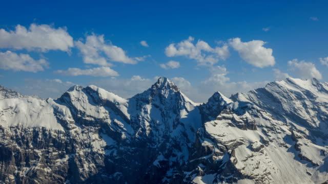 Time-Lapse shot of Kleine Scheidegg trail in European Alps Lauterbrunnen area