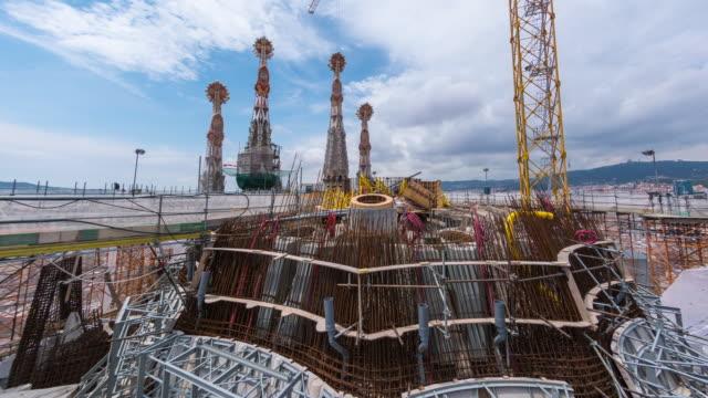 Timelapse Showing Construction on Roof of La Sagrada Família, Barcelona