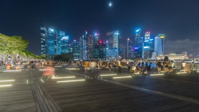 4K Timelapse : Sinagpore famous city downtown panorama