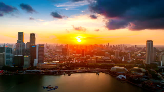 hd time-lapse: singapore cityscape at dusk - singapore river stock videos & royalty-free footage