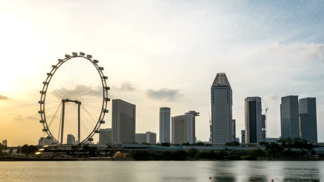 hd time-lapse: singapore cityscape sunset - singapore river stock videos & royalty-free footage