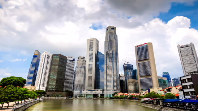 hd time-lapse: singapore cityscape - marina bay singapore stock videos and b-roll footage
