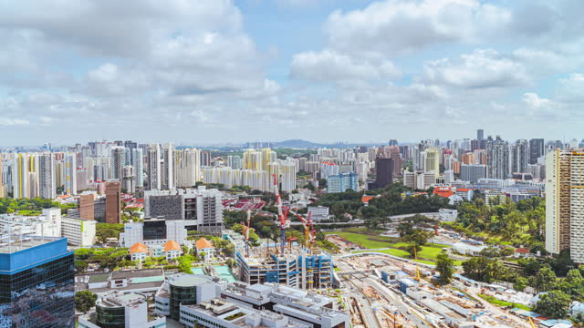 4k time-lapse singapore construction sites and transportation - noelia ramon stock videos & royalty-free footage