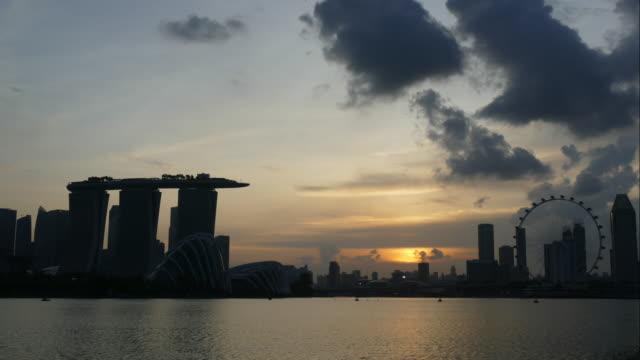 timelapse Singapur skyline der Stadt-scape