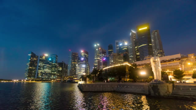 4K Time-lapse : Singapore skyline city