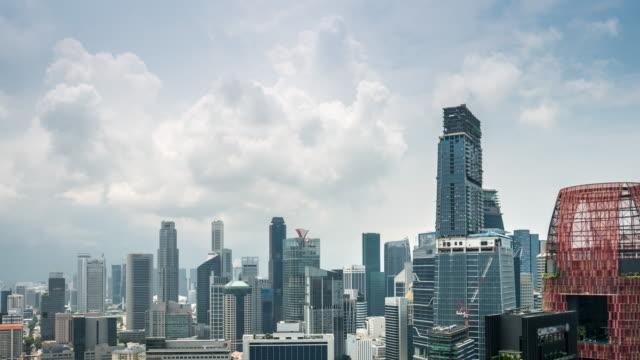 4 K Zeitraffer : Das Geschäftsviertel Timelapse