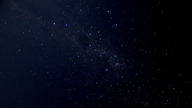 timelapse sky with southern cross