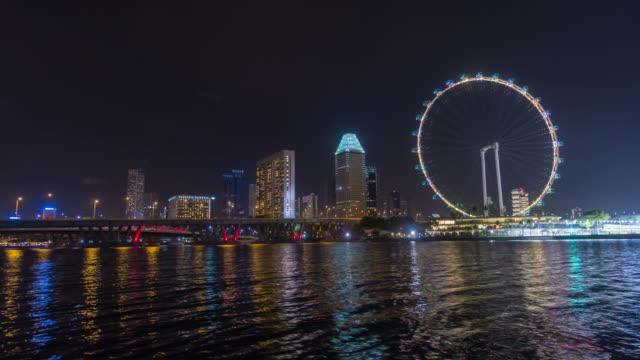4K Time-lapse : Skyline of Marina Bay, Singapore