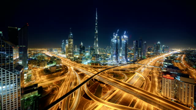 dubai timelapse skyline - dubai stock videos & royalty-free footage