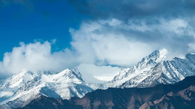 Timelapse Snow mountain range