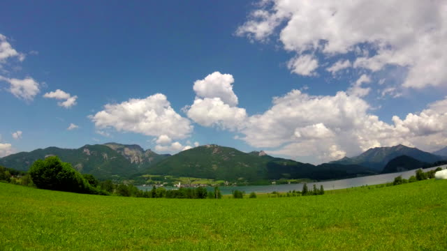 timelapse: st wolfgang and lake wolfgangsee, austria - salzkammergut stock videos and b-roll footage