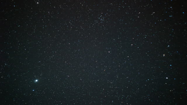 time-lapse star moving night time