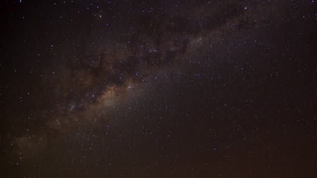 """Timelapse stars and milky way track through night sky, South Africa"""