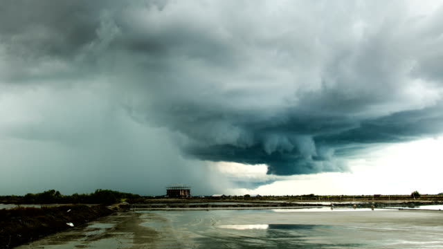 timelapse storm clouds with the rain - gale stock videos & royalty-free footage
