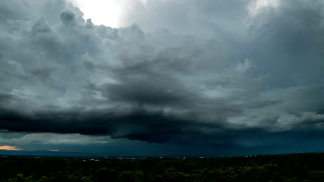 timelapse storm clouds with the rain - gale stock videos and b-roll footage