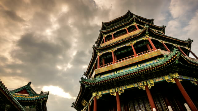 timelapse summer palace in beijing - ancient stock videos & royalty-free footage