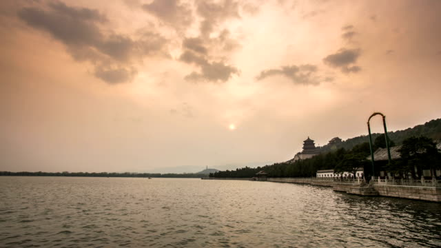 timelapse summer palace in beijing - summer palace beijing stock videos & royalty-free footage