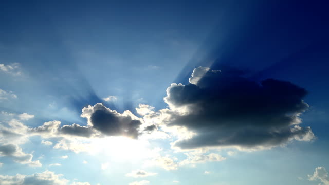 time-lapse: sunbeam from the clouds - full hd format stock videos & royalty-free footage