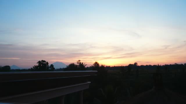 timelapse sunrise in ubud bali - ubud district stock videos & royalty-free footage
