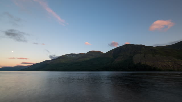 Timelapse sunrise of Loch Lochy in Scotland