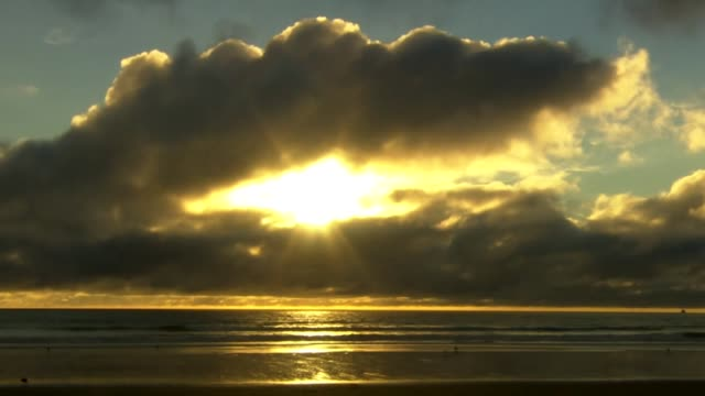Timelapse sunrise off the coast of Christchurch New Zealand