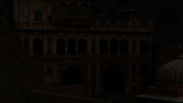 Timelapse sunrise over Galtaji temple, Jaipur, India