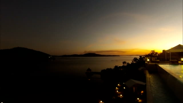 Time-lapse Sunset at busuanga bay Coron Palawan Philippines