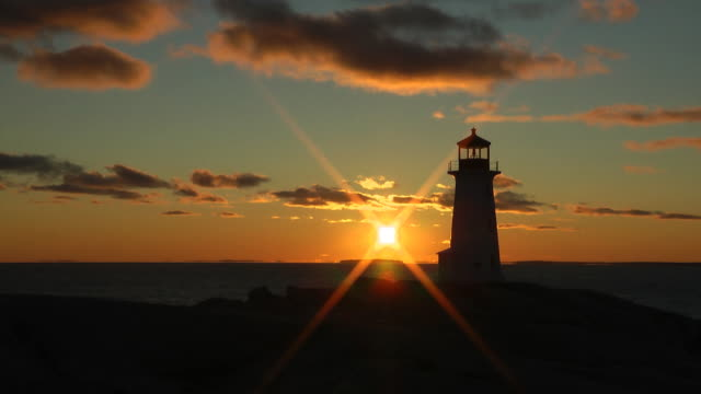Time-lapse sunset at Peggys Cove