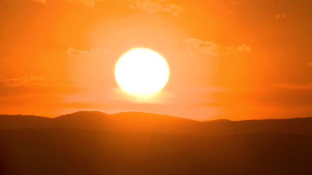 Timelapse Sunset Mongolian Steppe