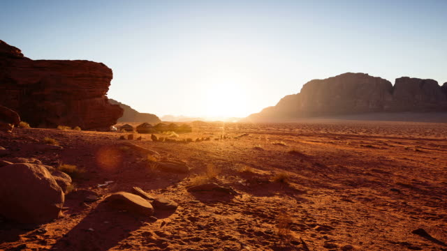 Timelapse sunset of Wadi Rum / Jordan