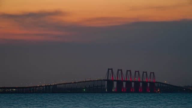 Timelapse - Sunset over Maracaibo bridge