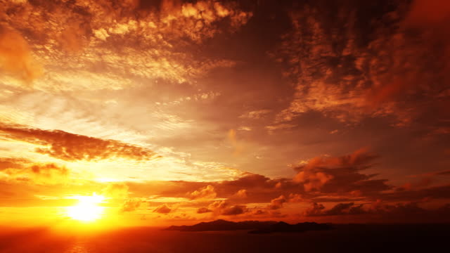 timelapse sunset - solar flare stock videos & royalty-free footage