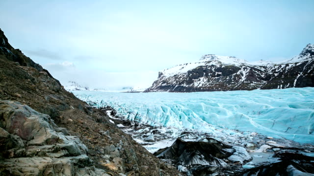 hd time-lapse: svinafell glacier national park, iceland - physical geography stock videos and b-roll footage